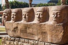 Forntida egyptiska monument Royaltyfria Bilder