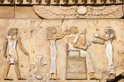 Forntida egyptiska symboler Arkivbilder