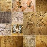 Forntida egyptiska teckningar vaggar på Royaltyfri Fotografi
