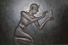 Forntida egyptiskt symbol arkivbild