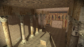 forntida egyptiskt tempel royaltyfria bilder