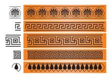 Forntida element för Grekland prydnaddesign Royaltyfri Fotografi