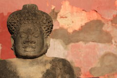Forntida en staty Fotografering för Bildbyråer