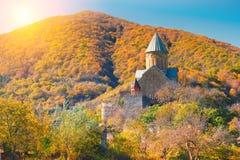 Forntida fästning Anauri Arkivfoto