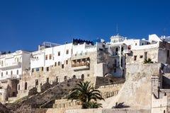 Forntida fästning i den gamla staden Tanger, Marocko, Medina Arkivbild