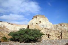 Forntida fästning Neve Zohar Arkivbilder