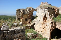 Forntida fästning Yehiam royaltyfri fotografi