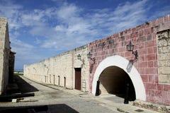 Forntida fästningbro Fotografering för Bildbyråer
