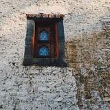 forntida fönster royaltyfri bild