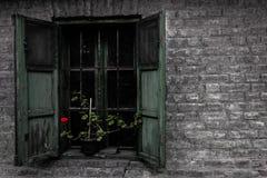 forntida fönster Fotografering för Bildbyråer