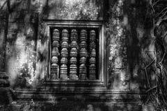Forntida fönster av Beng Mealea Royaltyfri Bild