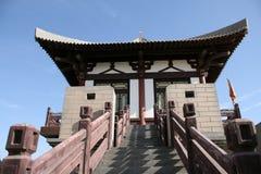 forntida by för porslindunhuang fort Fotografering för Bildbyråer