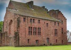 Forntida fördärvar abbothuset Arbroath Abbey Scotland Arkivfoton