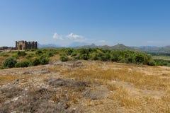 Forntida fördärvar av Aspendos Arkivfoto