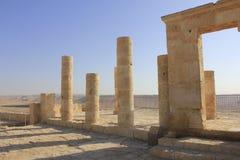Forntida fördärvar av Avdat, den Nabatean staden royaltyfri fotografi