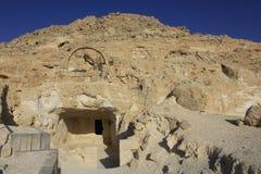 Forntida fördärvar av Avdat, den Nabatean staden royaltyfri foto