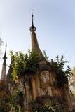 Forntida fördärvar av buddisten Stupas i Indein Arkivfoto