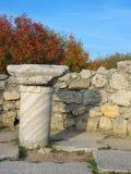 Forntida fördärvar av Chersonesus Arkivfoton