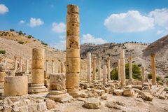 Forntida fördärvar av den Pella Jordanien Royaltyfri Foto