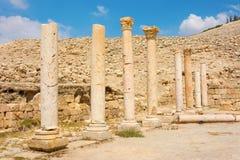 Forntida fördärvar av den Pella Jordanien Arkivbild