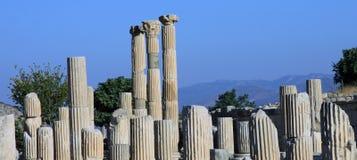 Forntida fördärvar av Ephesus Arkivfoto