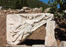 Forntida fördärvar av gammal grekisk stad av Ephesus Arkivfoto