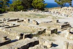 Forntida fördärvar av Kamiros - Rhodes Royaltyfri Fotografi
