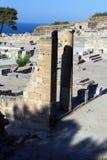 Forntida fördärvar av Kamiros - Rhodes Royaltyfri Foto
