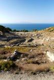Forntida fördärvar av Kamiros - Rhodes Royaltyfria Foton