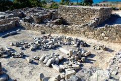 Forntida fördärvar av Kamiros - Rhodes Arkivfoto