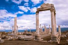 Forntida fördärvar av Laodicea Turkiet arkivbild
