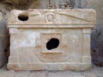 Forntida fördärvar av Olimpos Arkivbild