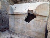Forntida fördärvar av Olimpos Arkivfoton