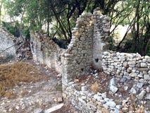 Forntida fördärvar av Olimpos Arkivfoto