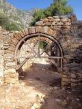 Forntida fördärvar av Olimpos Royaltyfri Fotografi