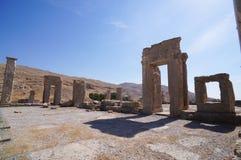 Forntida fördärvar av Persepolis, den ceremoniella huvudstaden av Achaen Royaltyfria Foton