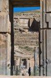Forntida fördärvar av Persepolis, Iran Arkivfoto