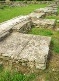 Forntida fördärvar av Ulpia Traiana Augusta Dacica Sarmizegetusa i Rumänien Royaltyfria Bilder