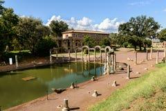 Forntida fördärvar av villan Adriana, Tivoli, Italien Royaltyfria Foton
