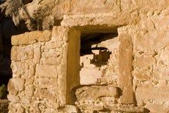 forntida fördärvar fönstret Arkivbild