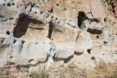 Forntida fördärvar i Bandelier den nationella monumentet Fotografering för Bildbyråer