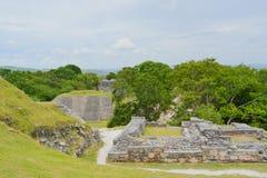 Forntida fördärvar i Belize royaltyfri foto