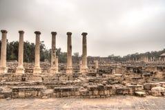 Forntida fördärvar i det Israel loppet Arkivbild