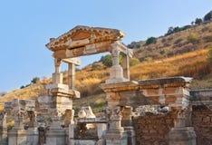 Forntida fördärvar i Ephesus Turkiet Royaltyfria Foton