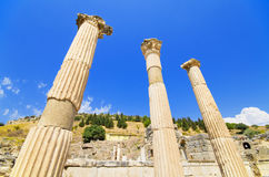 Forntida fördärvar i Ephesus, Turkiet Royaltyfri Fotografi