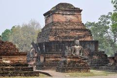 Forntida fördärvar i Sukhothai, Thailand Royaltyfri Foto
