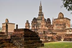 Forntida fördärvar i Sukhothai, Thailand Royaltyfri Fotografi