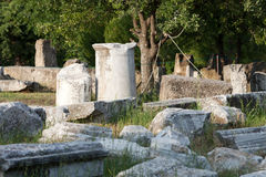 Forntida fördärvar i Troy. fotografering för bildbyråer