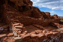forntida fördärvar Wupatki nationell monument i Arizona Royaltyfria Foton