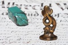 forntida förlagestämpelwax Royaltyfri Fotografi